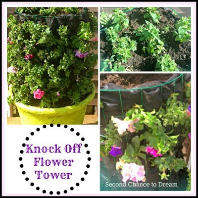 Knock+off+Flower+Tower {Featured On}