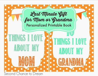 Second Chance to Dream: Printable Gift Book for Mom or Grandma #mothersday