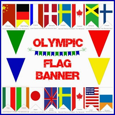 Second Chance to Dream: Olympic Flag Banner #sochi #freeprintable