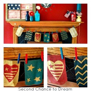Patriotic banner title 300x300 DIY Flag Mason Jars