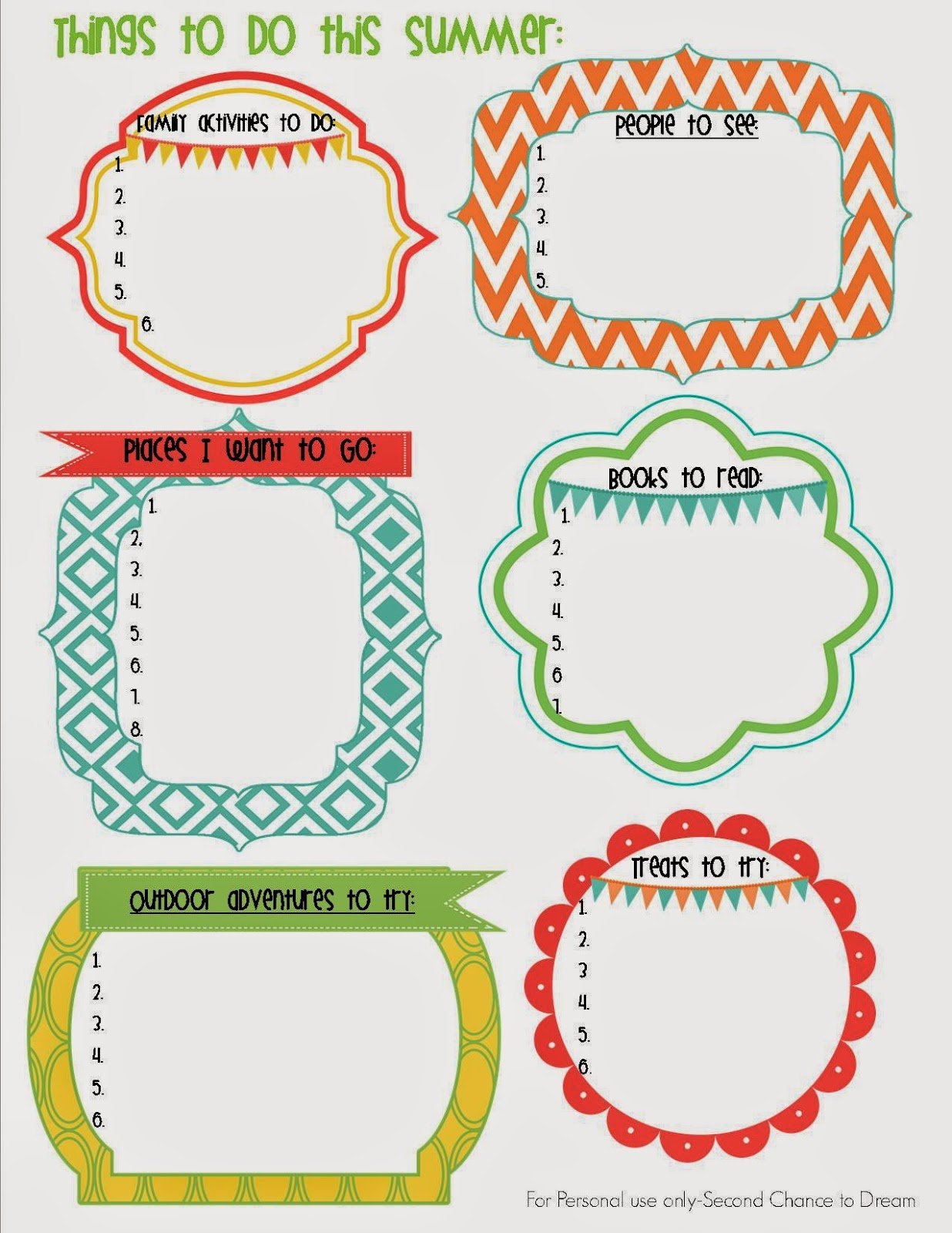 Things+to+do+this+Summer {Printables}