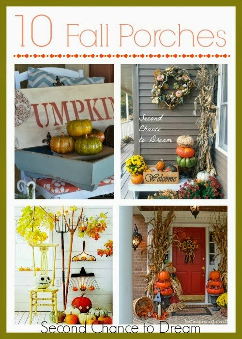 fall porches {Featured On}