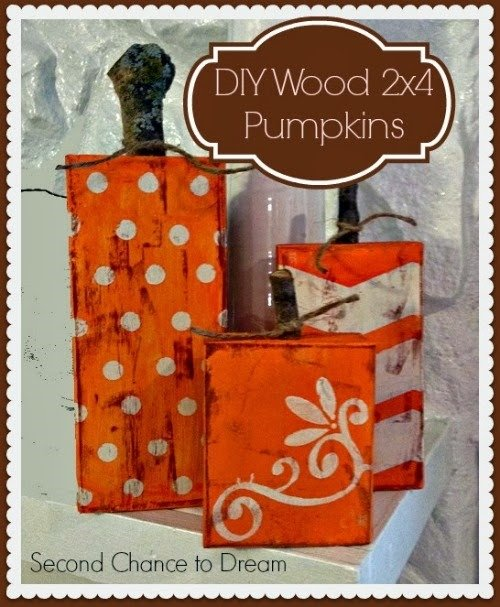 recycled wooden pumpkins thumb {Featured On}