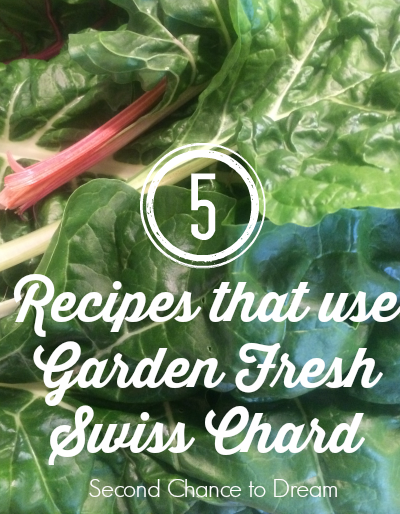 Second Chance to Dream: 5 Recipes that use Garden Fresh Swiss Chard #gardenfresh, #recipes