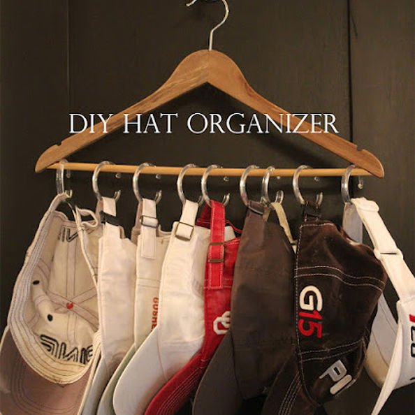 organizing with hangers, organizing, For your hats