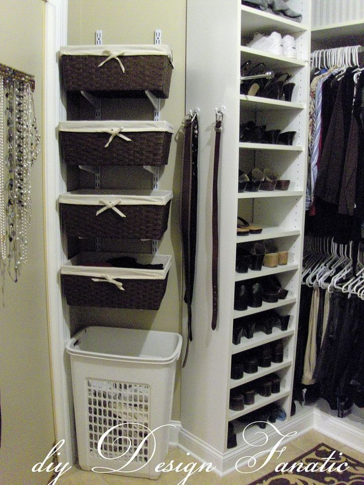 Organized Master Bedroom Closet   Love The Baskets For Small Delicates (I  Can Do A