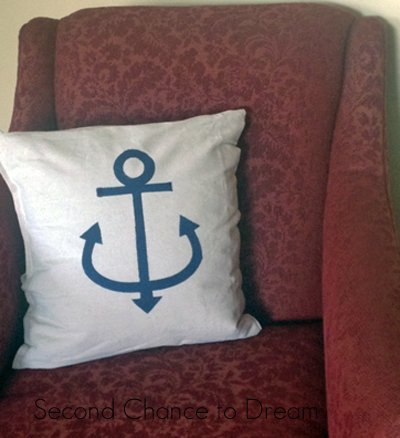 Finished Anchor Pillow