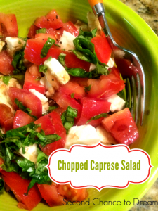 Single Serve Chopped Caprese Salad