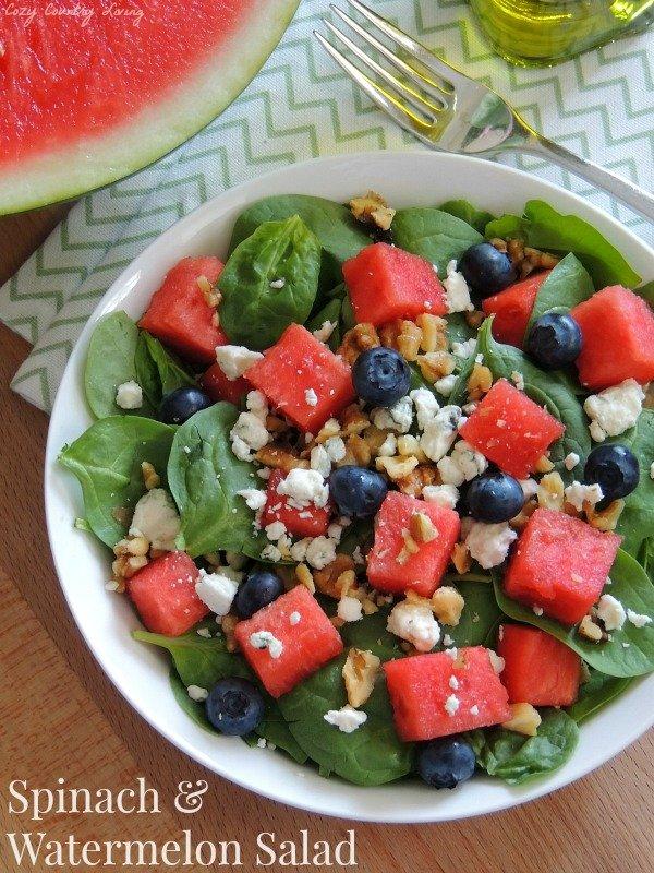 Spinach-Watermelon-Salad