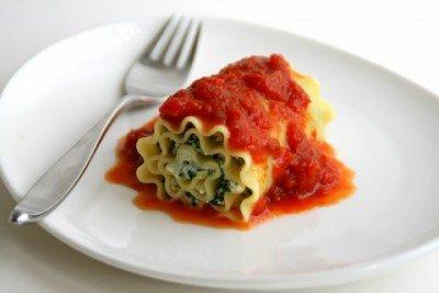 swiss chard lasagna roll ups