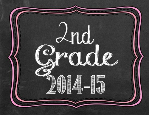 2nd grade pink 500x386 Back to School Photo Printables