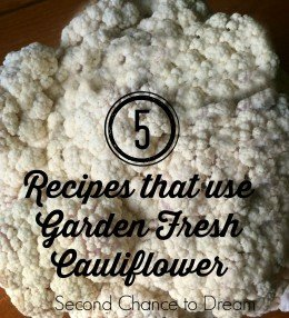 5 Recipes that use Garden Fresh Cauliflower
