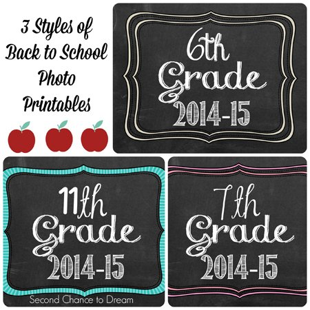 Second Chance to Dream: Back to School Photo Printables. #back5oschool