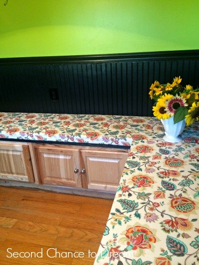 Second Chance to Dream: Finished Banquette Seating