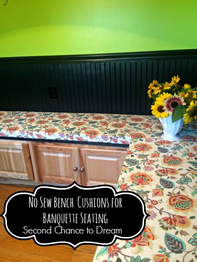 Second Chance to Dream: No Sew Bench Cushion for Banquette Seating