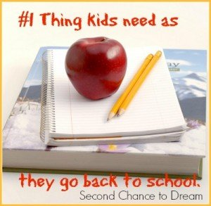 #1 Thing kids need as they go back to school…