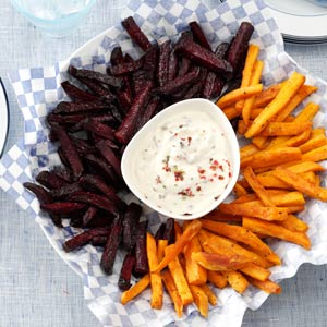 Beet and Sweet Potato Fries Recipe
