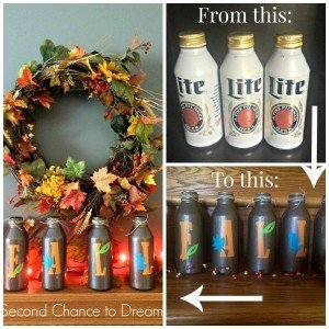 Fall Decor with Upcycled Beer Cans