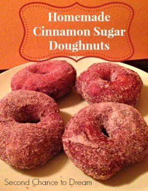 Homemade Cinnamon Sugar Doughnuts