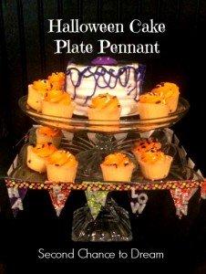 Halloween Cake Plate Pennant