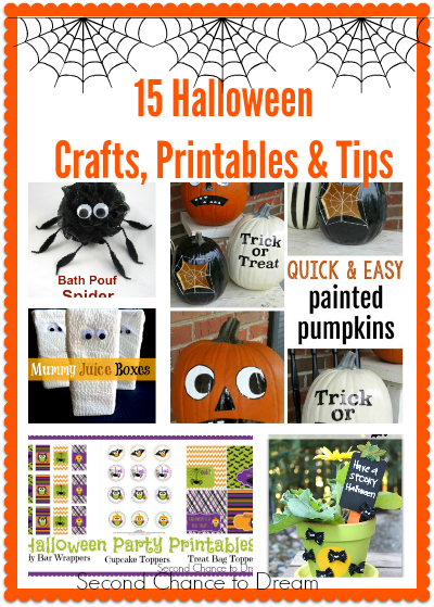 Second Chance to Dream: 15 Halloween Crafts, Printables & Tips #halloween