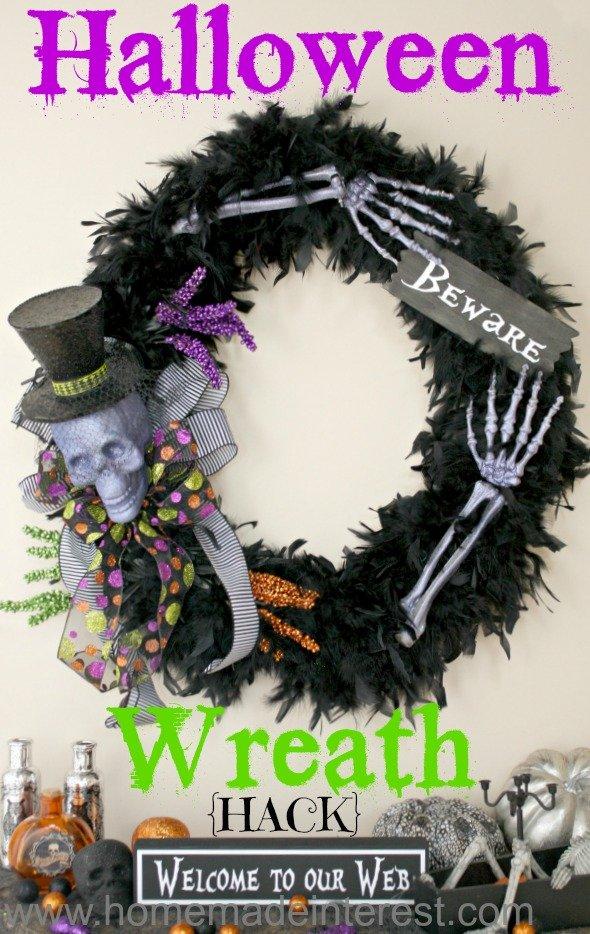 Halloween Wreath Hack   Home. Made. Interest.