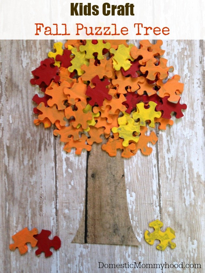 fall puzzle tree