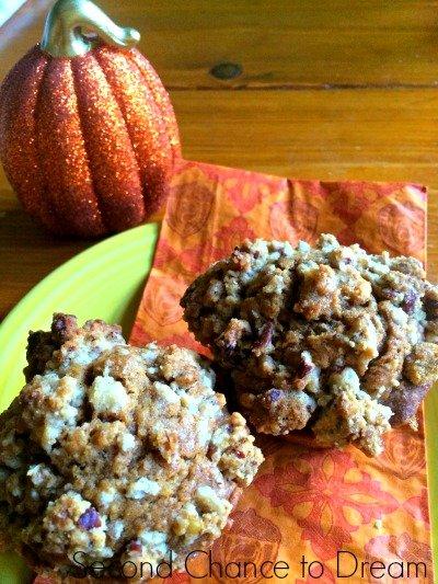 finished pumpkin spice muffins