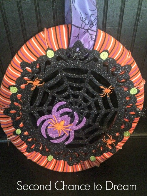 Second Chance to Dream: Dollar Store Halloween Wreath 2