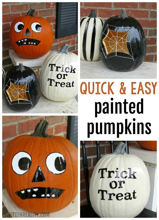 Quick Easy Painted Pumpkins