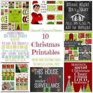 Second Chance to Dream: 10 Christmas Printables #elfontheshelf #giftgiving #christmasdecor