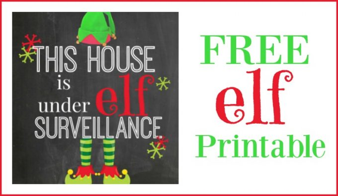 Second Chance to Dream: Free Elf Printable #elfontheshelf