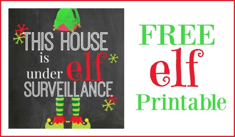 Second Chance to Dream: Free Elf Printable #elfontheshelf