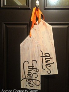 DIY Give Thanks Wood Tags