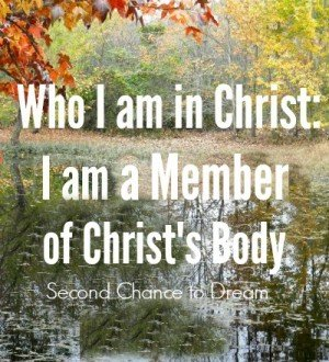 Who I am in Christ:  I am a member of Christ's body