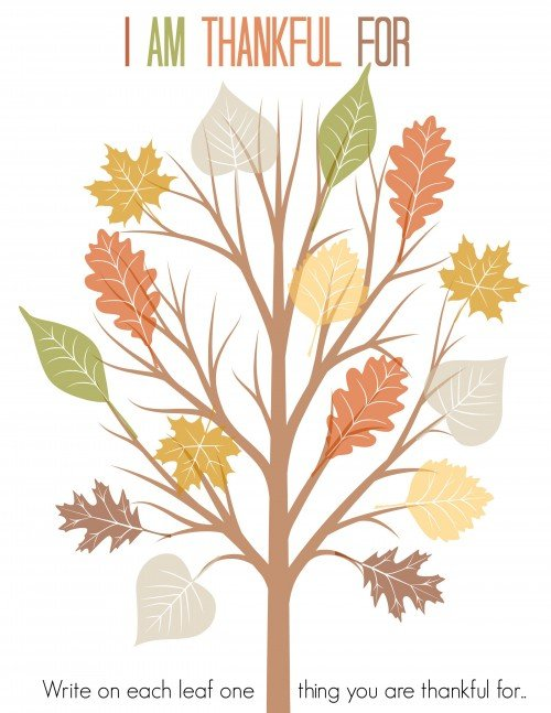 I am thankful for- leaves