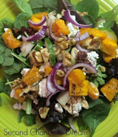 Second Chance to Dream:  Roasted Chicken butternut squash salad recipe