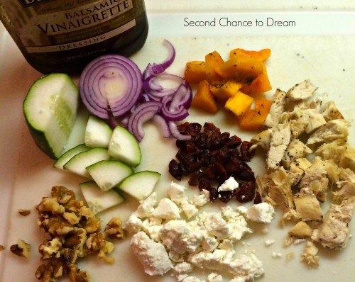 Second Chance to Dream:  salad ingredients