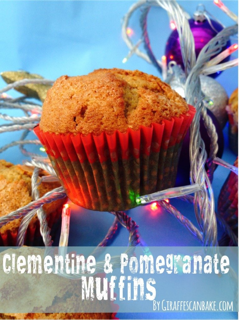 Clementine and Pomegranate Muffins