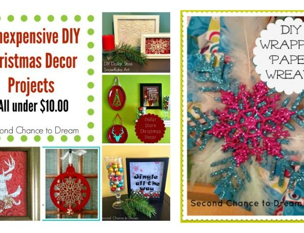 Second Chance to Dream: 6 Inexpensive Christmas Decor Projects #Dollarstore