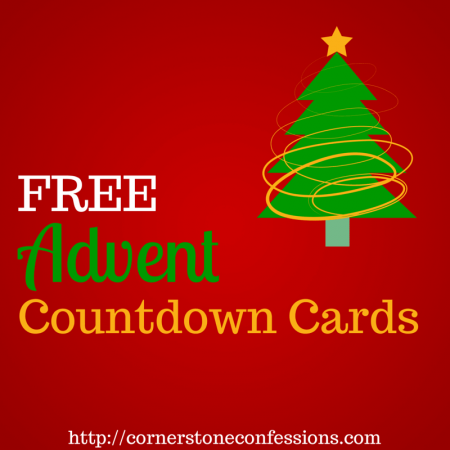 Free#Advent Countdown Cards
