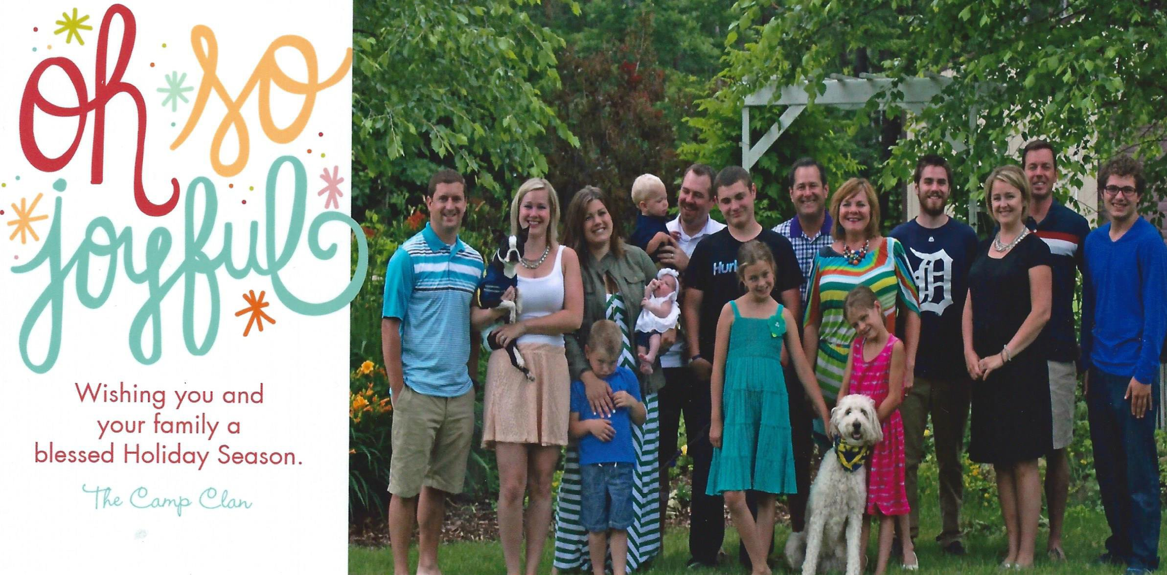 Second Chance to Dream: Family Christmas Card