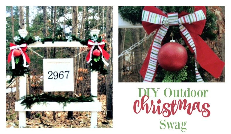 Second Chance to Dream: DIY Outdoor Christmas Swag
