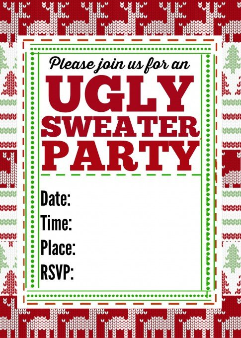 Second Chance to Dream: Ugly Sweater Party Invitation #uglysweaterparty