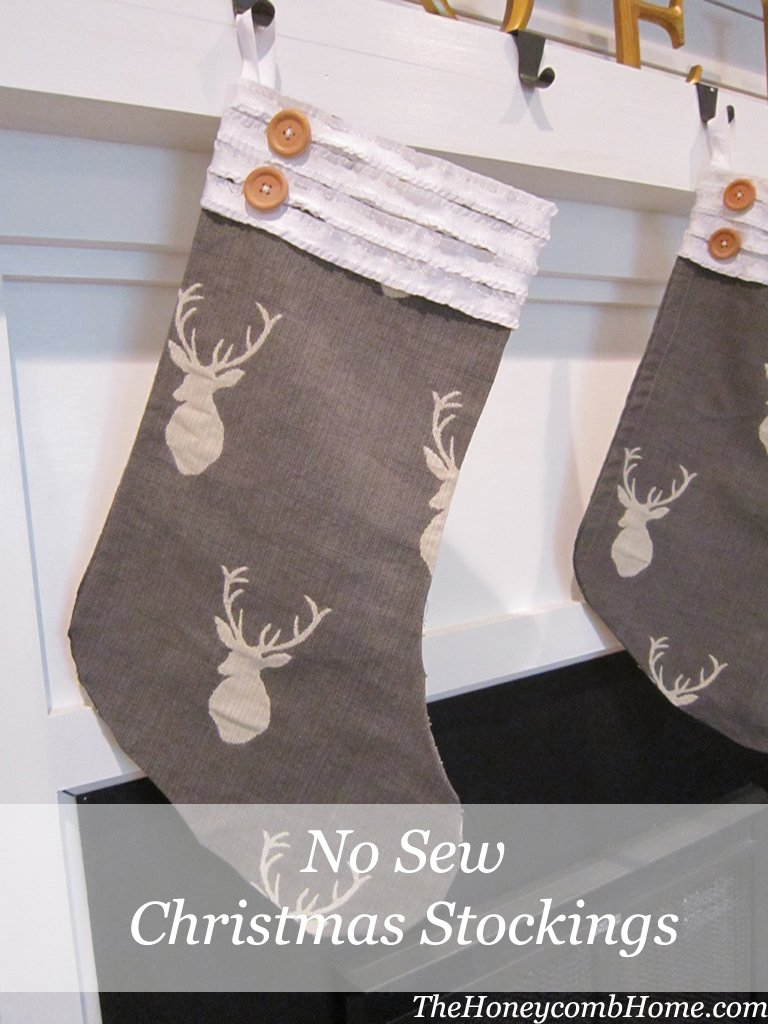 No Sew Christmas Stocking