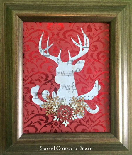 Second Chance to Dream: Reindeer DIY Art #christmas