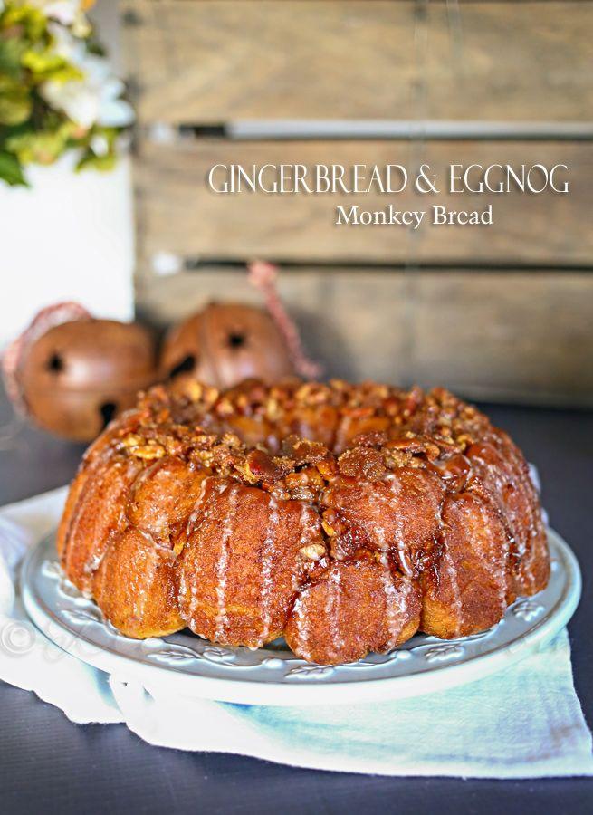 Gingerbread & Eggnog Monkey Bread
