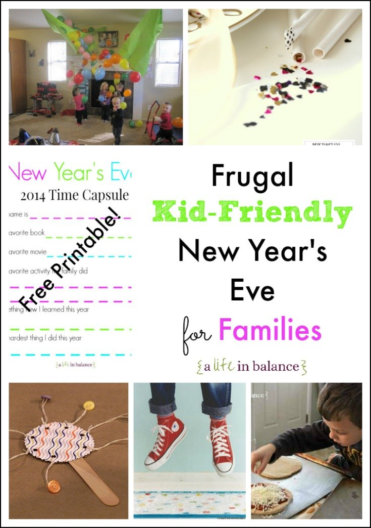 Kid-Friendly New Year's Eve for Families (Free Printable Time Capsule for Kids)