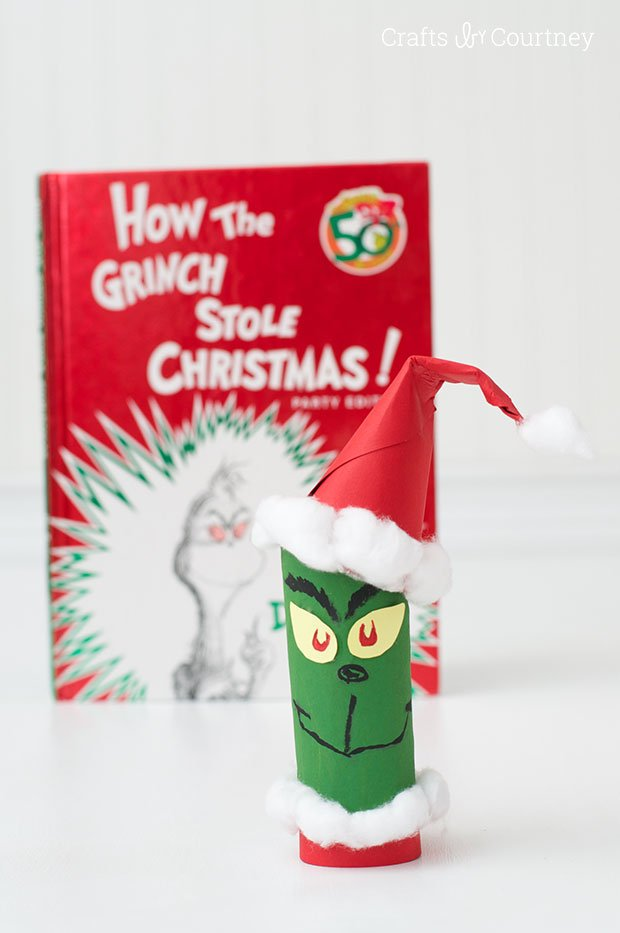Toilet Paper Roll Grinch - Fun Crafts for Christmas