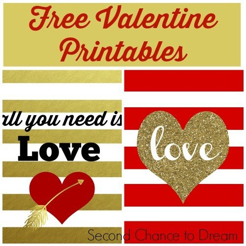 Second Chance to Dream: Free Valentine Printables